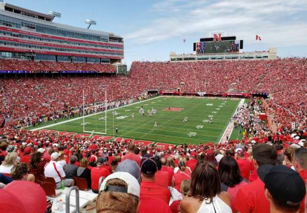 Memorial Stadium (Lincoln), section: 14, row: 61, seat: 13 & 14