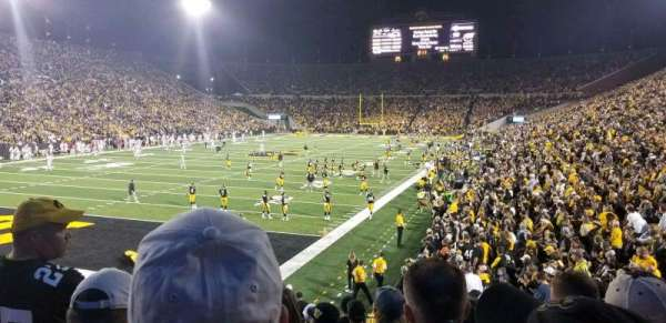 Kinnick Stadium, section: 133, row: 18, seat: 15