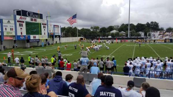 Johnson Hagood Stadium, section: I, row: 8, seat: 2