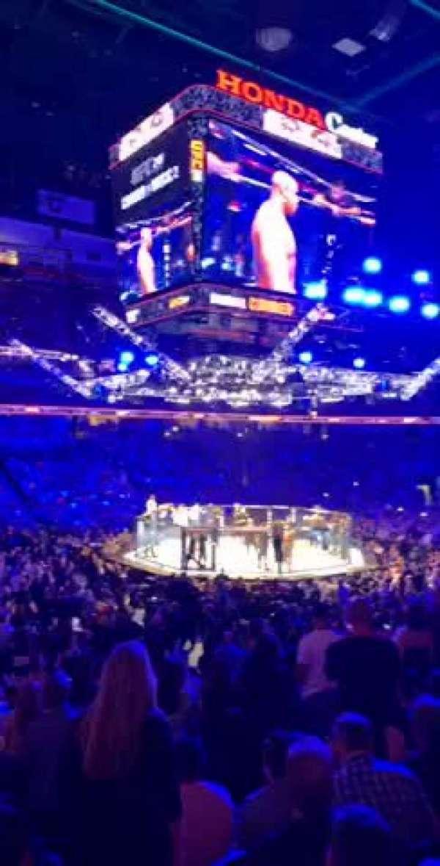 Honda Center, section: 210, row: P, seat: 9
