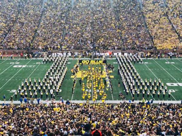 Michigan Stadium, section: 1, row: 83, seat: 14