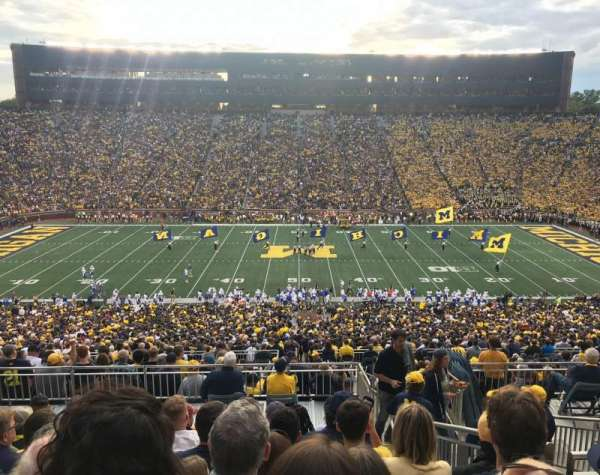 Michigan Stadium, section: 1, row: 83, seat: 13