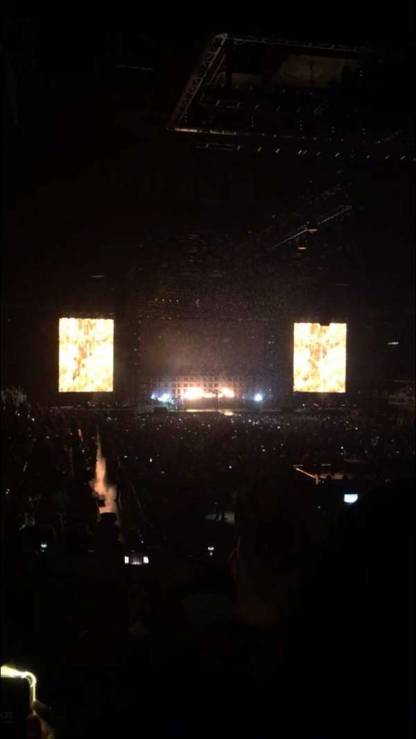 Prudential Center, section: 1, row: 16, seat: 8