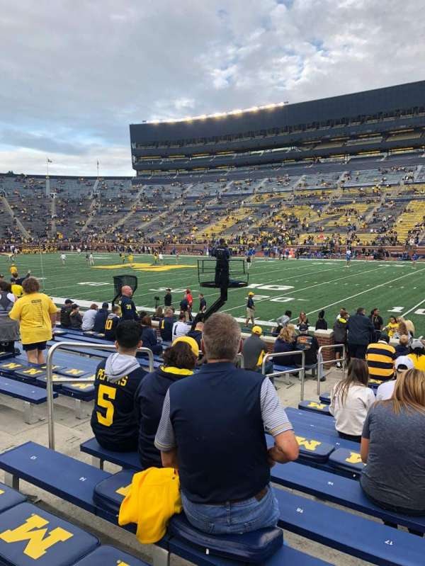Michigan Stadium, section: 20, row: 16, seat: 17
