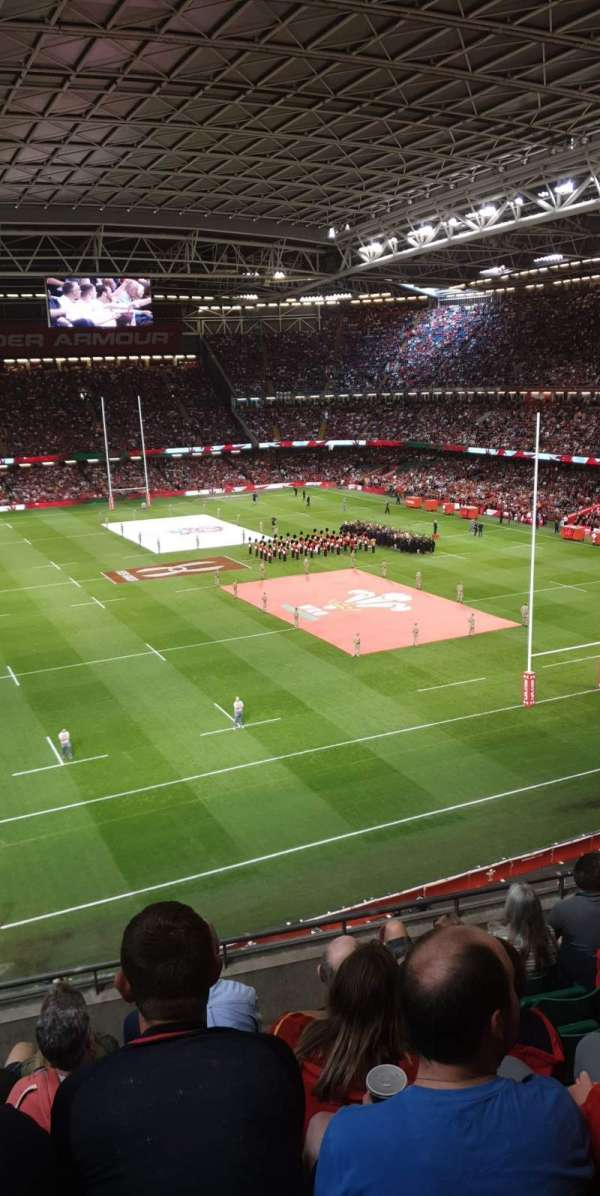 Principality Stadium, section: U22, row: 7, seat: 7
