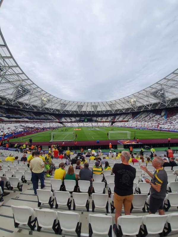 London Stadium, section: 119, row: 18, seat: 7