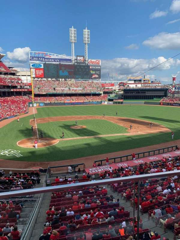 Great American Ball Park, section: 227, row: A, seat: 4