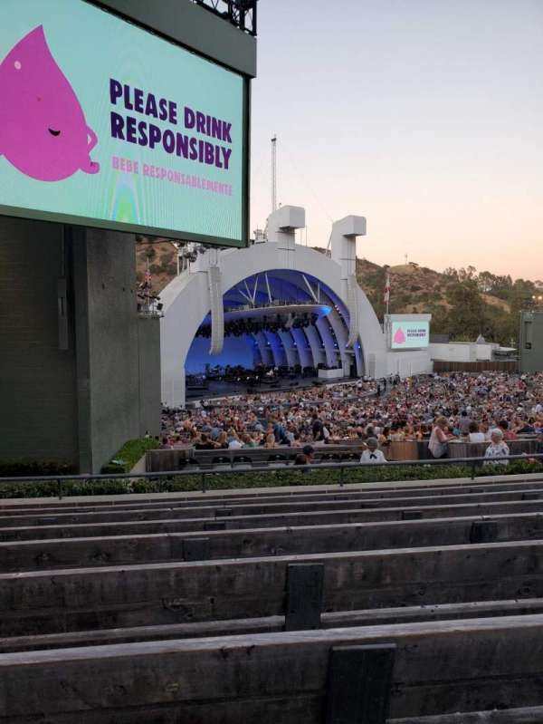 Hollywood Bowl, section: K3, row: 8, seat: 25