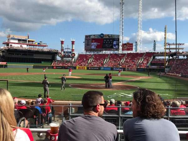 Great American Ball Park, section: 121, row: O, seat: 5