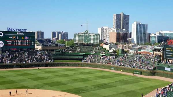 Wrigley Field, section: 321R, row: 1, seat: 9