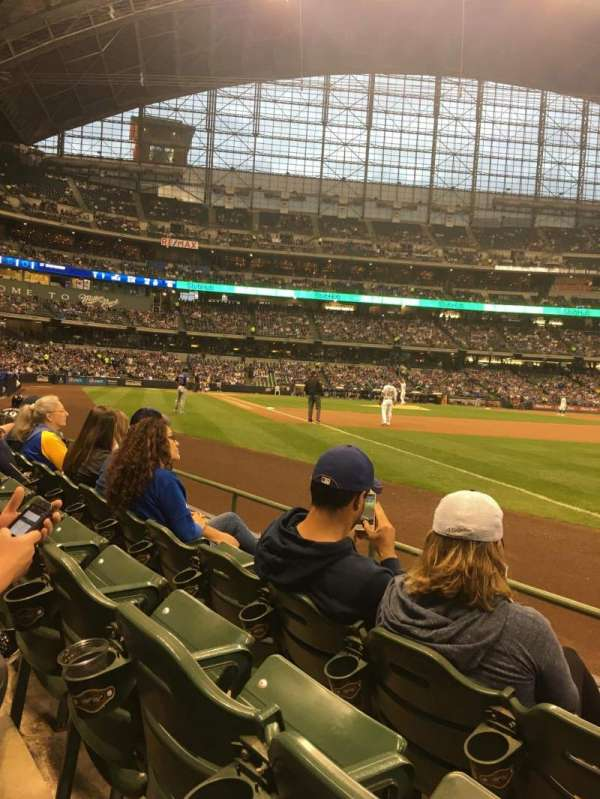 Miller Park, section: 109, row: 3, seat: 14