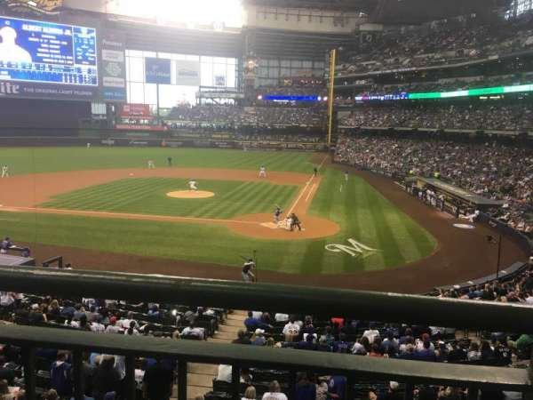 Miller Park, section: 221, row: 1, seat: 5