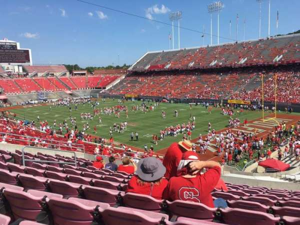 Carter-Finley Stadium, section: 215, row: K, seat: 23