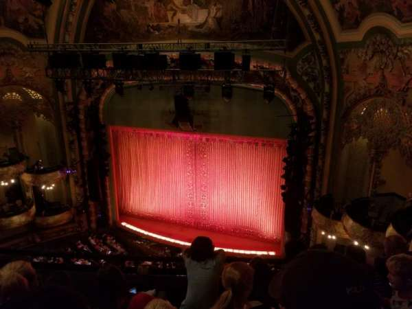 New Amsterdam Theatre, section: Balcony R, row: D, seat: 14