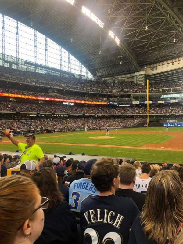 Miller Park, section: 112, row: 14, seat: 6