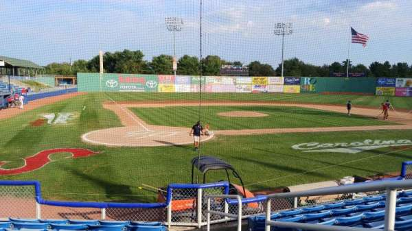 Salem Memorial Baseball Stadium, section: 105, row: H, seat: 7