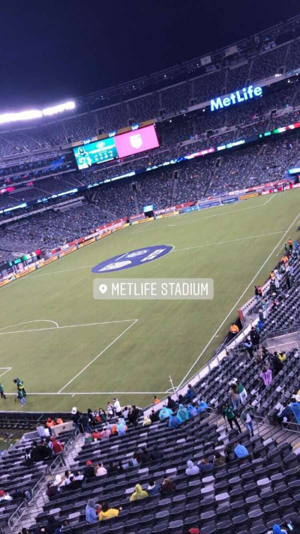 MetLife Stadium, section: 246a, row: 1, seat: 10