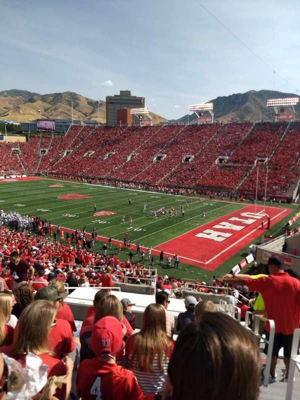 Rice-Eccles Stadium, section: W7, row: 37, seat: 9