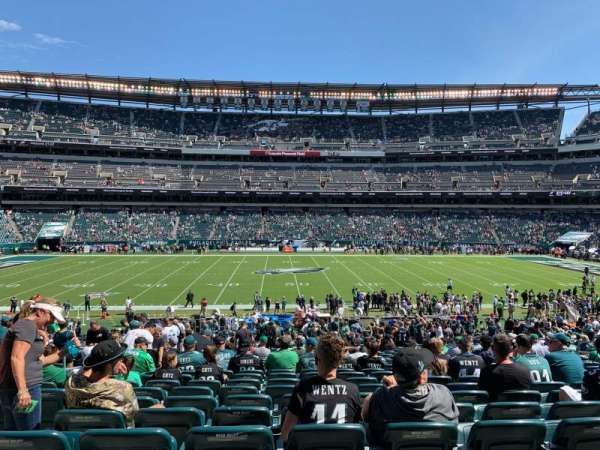 Lincoln Financial Field, section: 101, row: 35, seat: 8