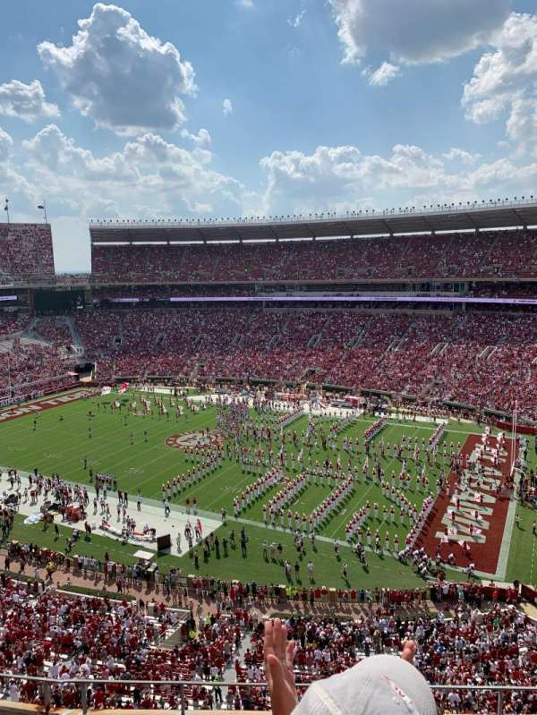 Bryant-Denny Stadium, section: U4-NN, row: 6, seat: 12