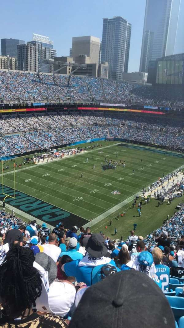 Bank of America Stadium, section: 550, row: 20, seat: 19-20