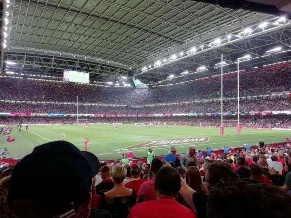Principality Stadium, section: L2, row: 17