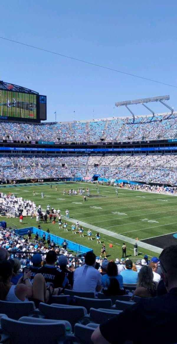 Bank of America Stadium, section: 336, row: 13, seat: 10