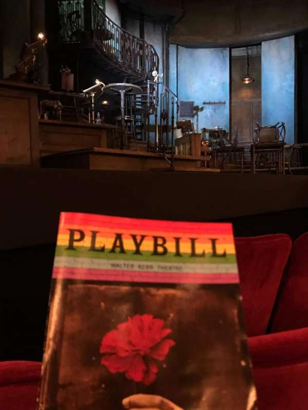 Walter Kerr Theatre, section: Orchestra L, row: D, seat: 11