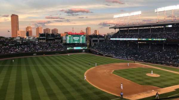 Wrigley Field, section: 307L, row: 2, seat: 7