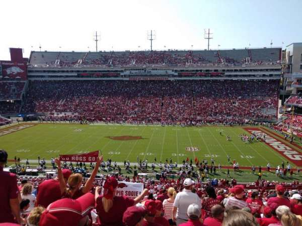 Razorback Stadium, section: 122, row: 57, seat: 13