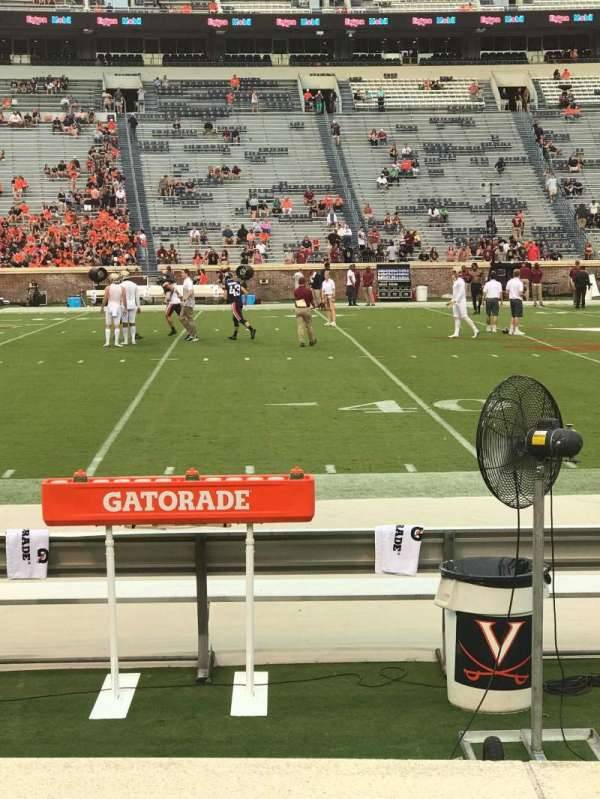 Scott Stadium, section: 126, row: C, seat: 14