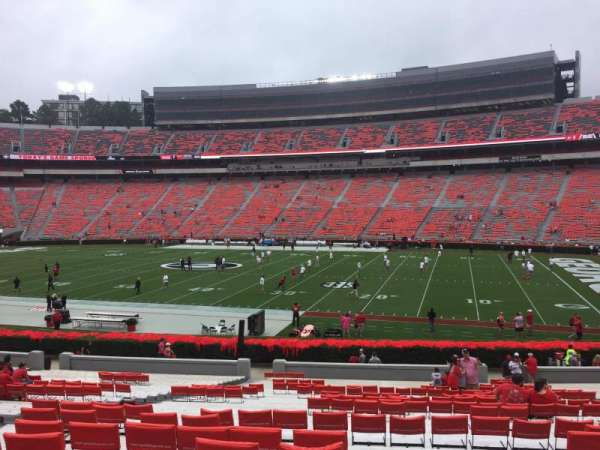 Sanford Stadium, section: 104, row: 35, seat: 14