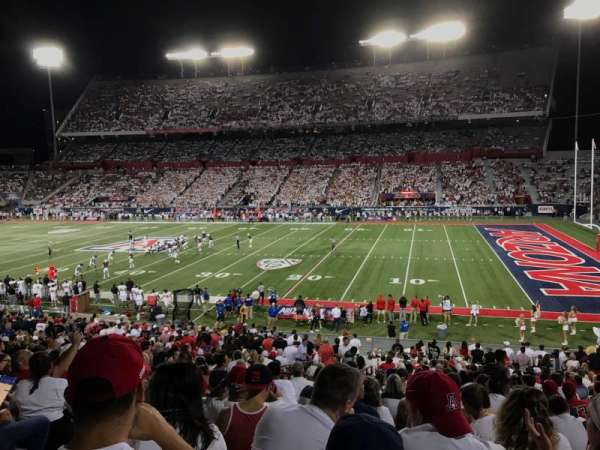 Arizona Stadium, section: 18, row: 35, seat: 20