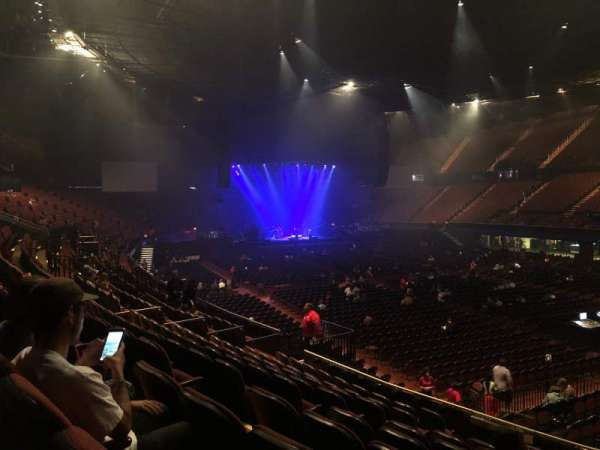 The Forum, section: 132, row: 10, seat: 4