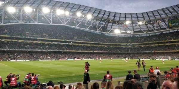 Aviva Stadium, section: 108, row: K, seat: 14