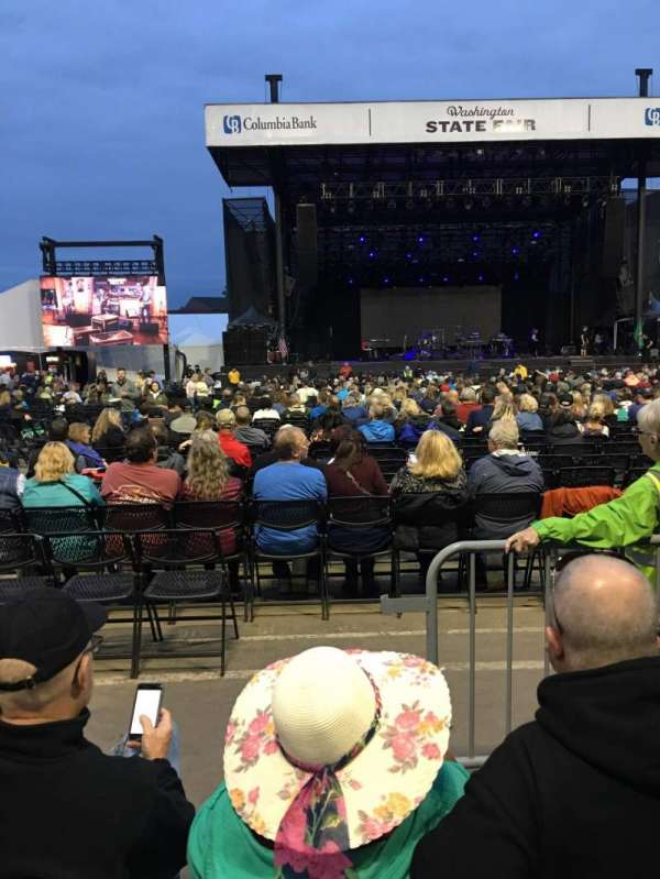 Grandstand at the Washington State Fair, section: Infield N, row: 3, seat: 1-2