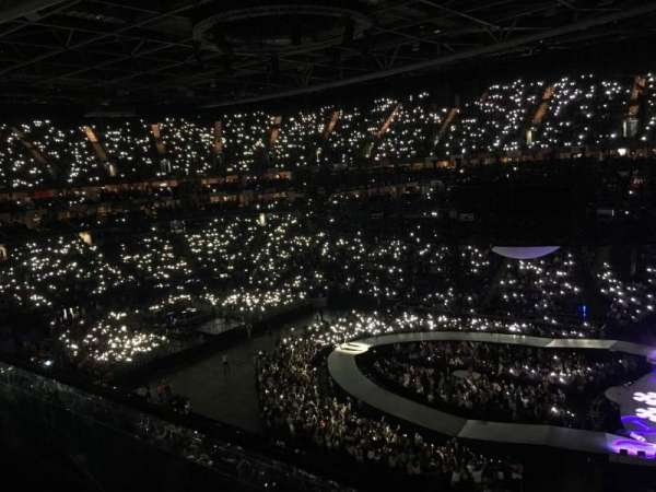 The O2 Arena, section: 422, row: A
