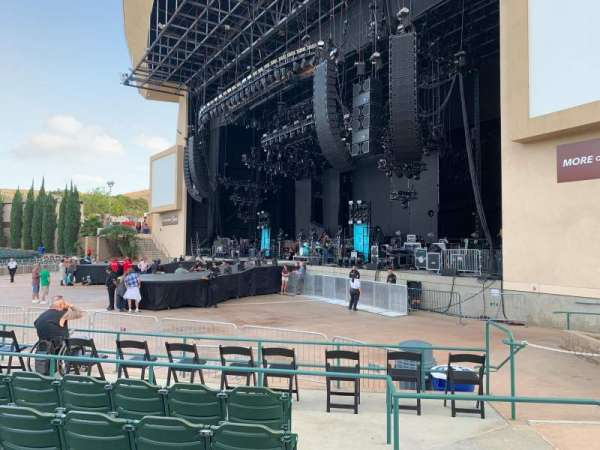 North Island Credit Union Amphitheatre, section: 101, row: F, seat: 3