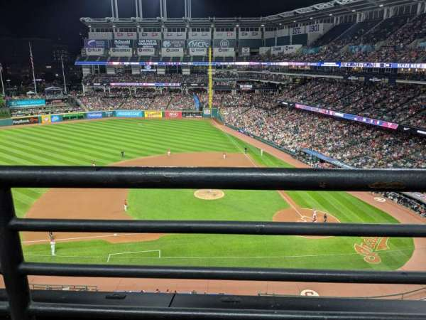 Progressive Field, section: 461, row: A, seat: 2