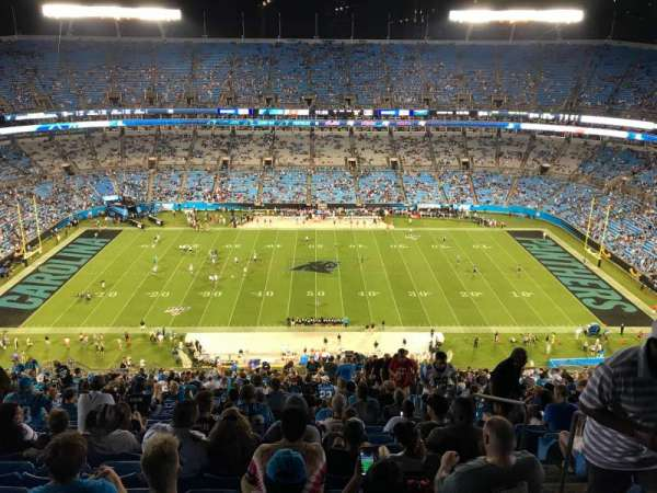 Bank of America Stadium, section: 542, row: 28, seat: 4