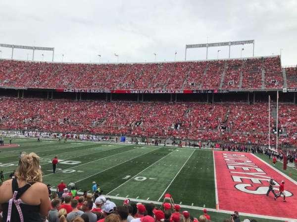 Ohio Stadium, section: 25A, row: 1, seat: 21