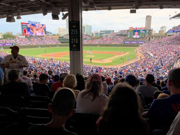 Wrigley Field, section: 216, row: 14, seat: 5