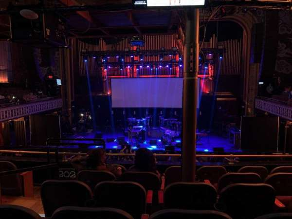 The Tabernacle, section: 201, row: F, seat: 9