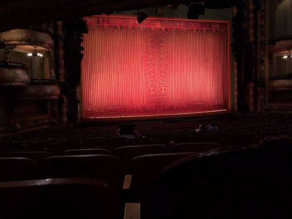 New Amsterdam Theatre, section: Orchestra L, row: U, seat: 1