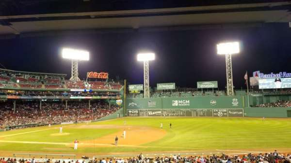 Fenway Park, section: Grandstand 13, row: 8, seat: 8