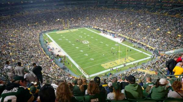 Lambeau Field, section: 740s, row: 12, seat: 8