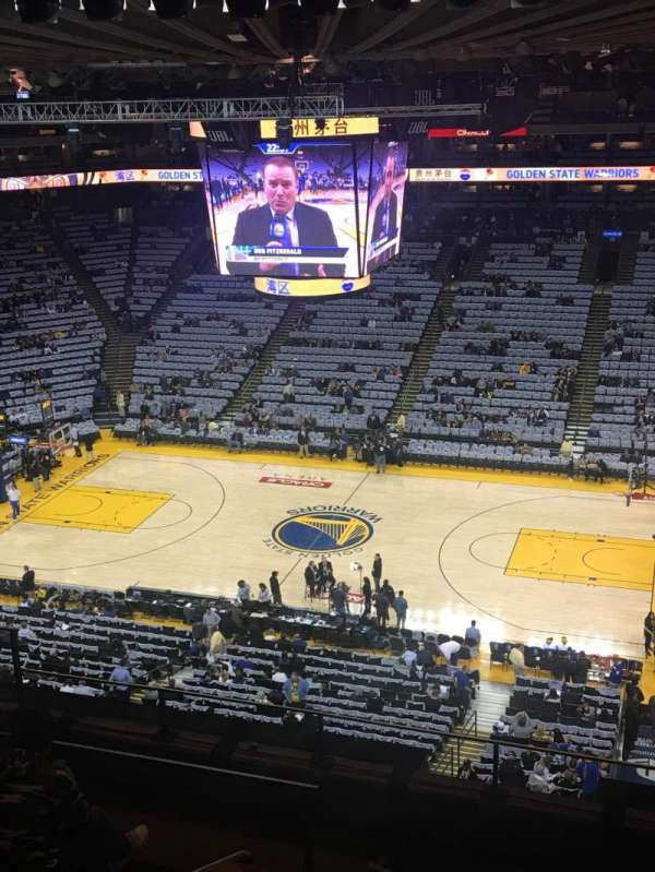 Oracle Arena, section: 231, row: 7, seat: 8
