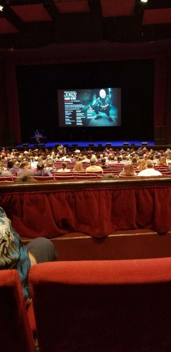 San Diego Civic Theatre, section: Dress circle r, row: B, seat: 14