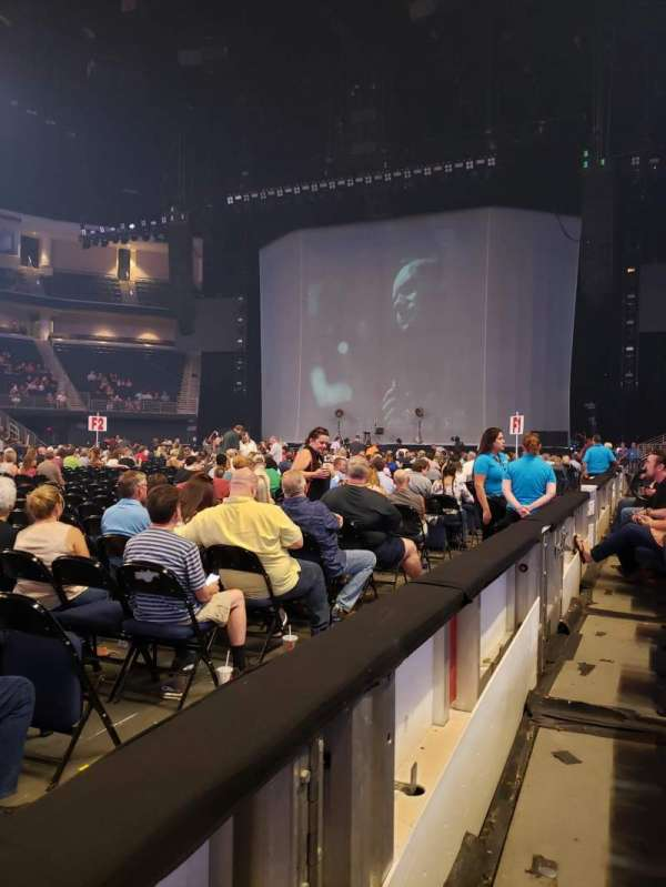 Infinite Energy Arena, section: 105, row: A, seat: 13