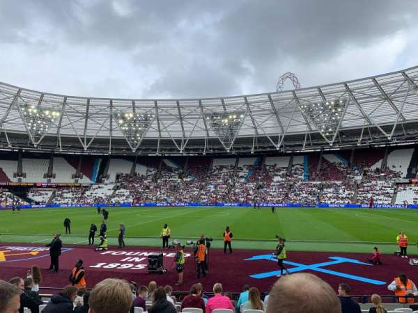 London Stadium, section: 110, row: 12, seat: 279